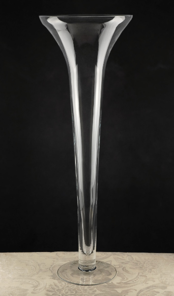 16 Quot Pilsner Tall Glass Vase Flare On Top 4 Pcs Sbb